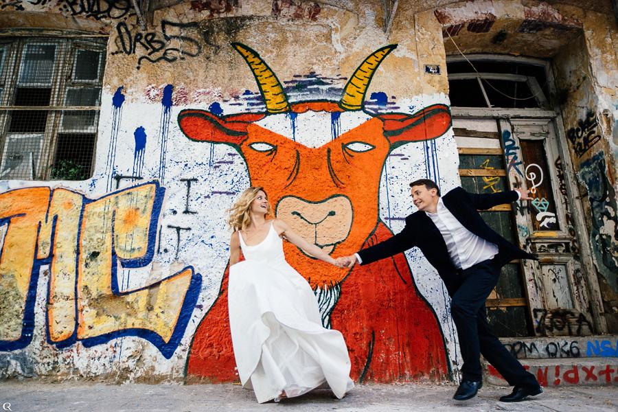 spaßige Hochzeitsfotos