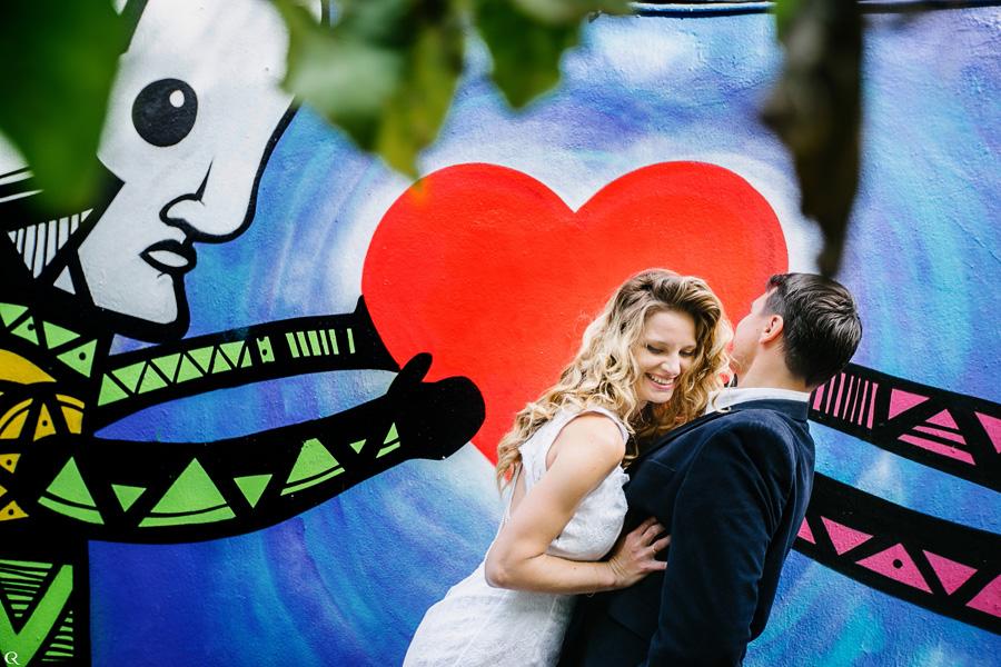 Graffiti Hochzeitsfotos