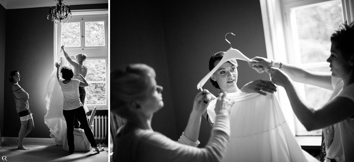 Vorbereitungsfotos Braut