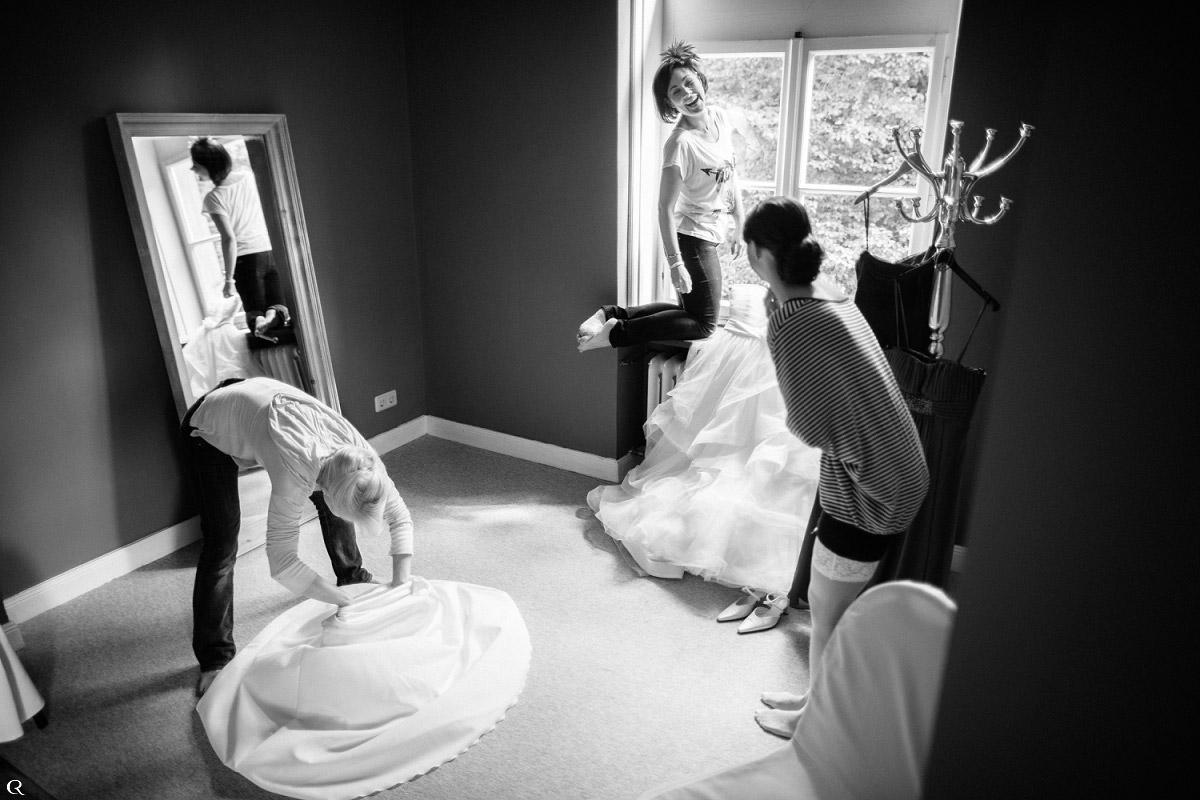 Braut Vorbereitungsbilder