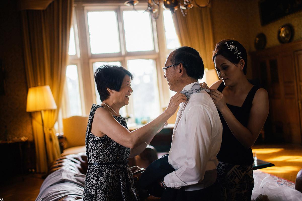 Braut und Eltern