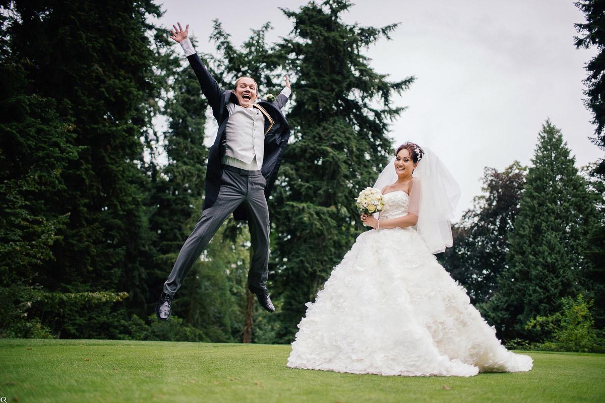 spaßiges Hochzeitsfoto