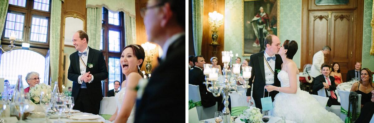 Hochzeitspaar kussfotos