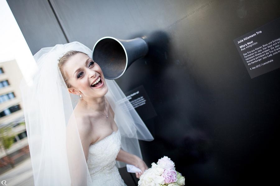 Hochzeitslächeln