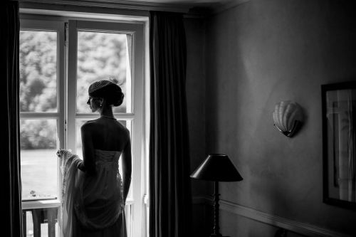 Bride at the window