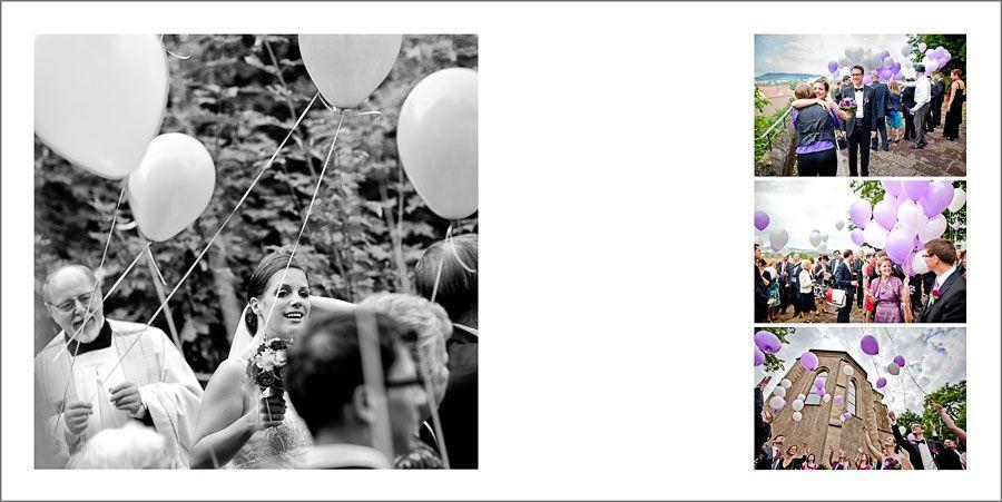 Luftballons für Hochzeit