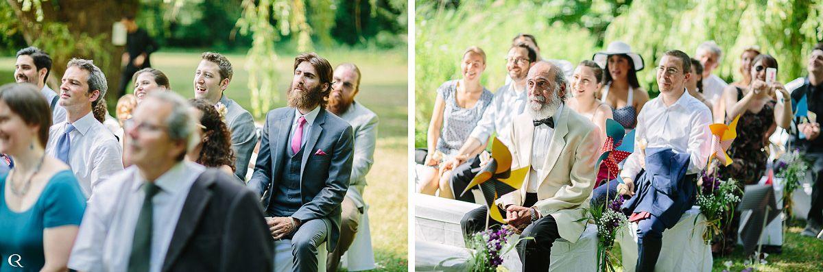 Hochzeitsfeier im Garten