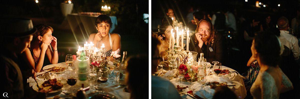 Hochzeitsfeier mit Kerzen