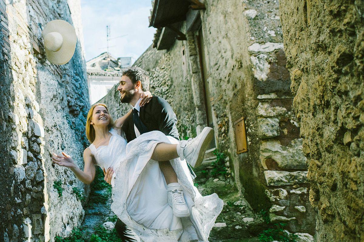 lüstige Hochzeitsfotos