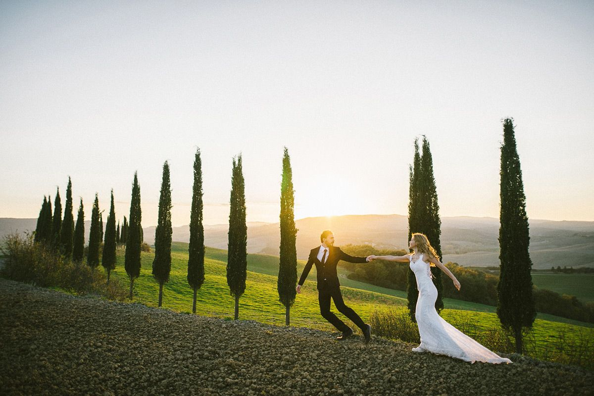 Romantic photos in Tuscany