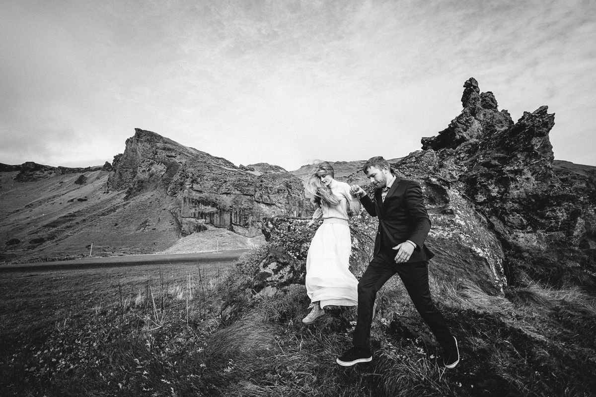 After wedding shooting in Iceland