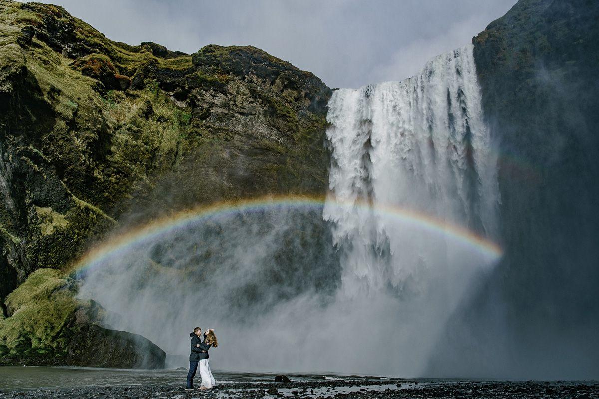 iceland wedding, island shooting, iceland waterfall