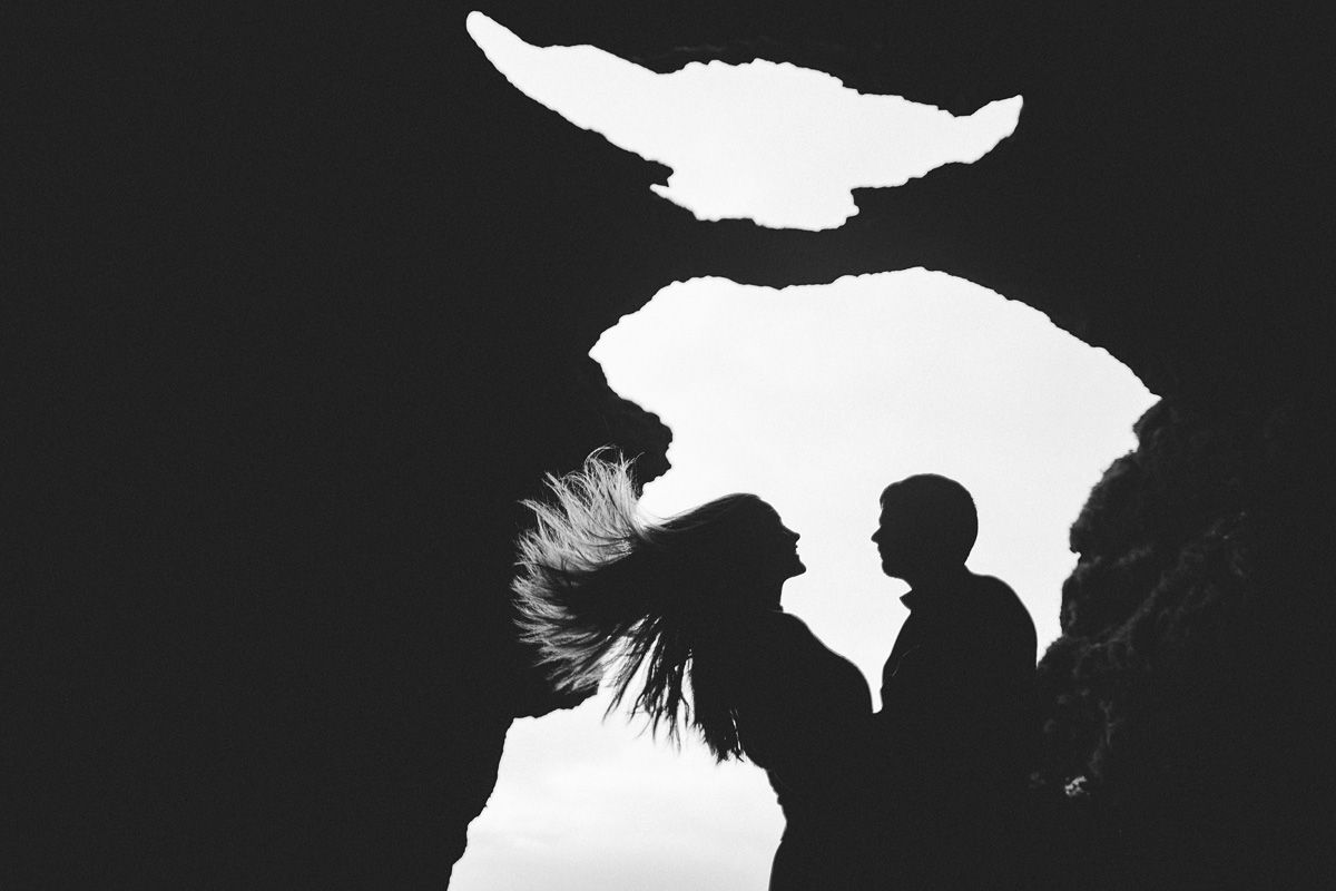 iceland wedding, island shooting, cave photos