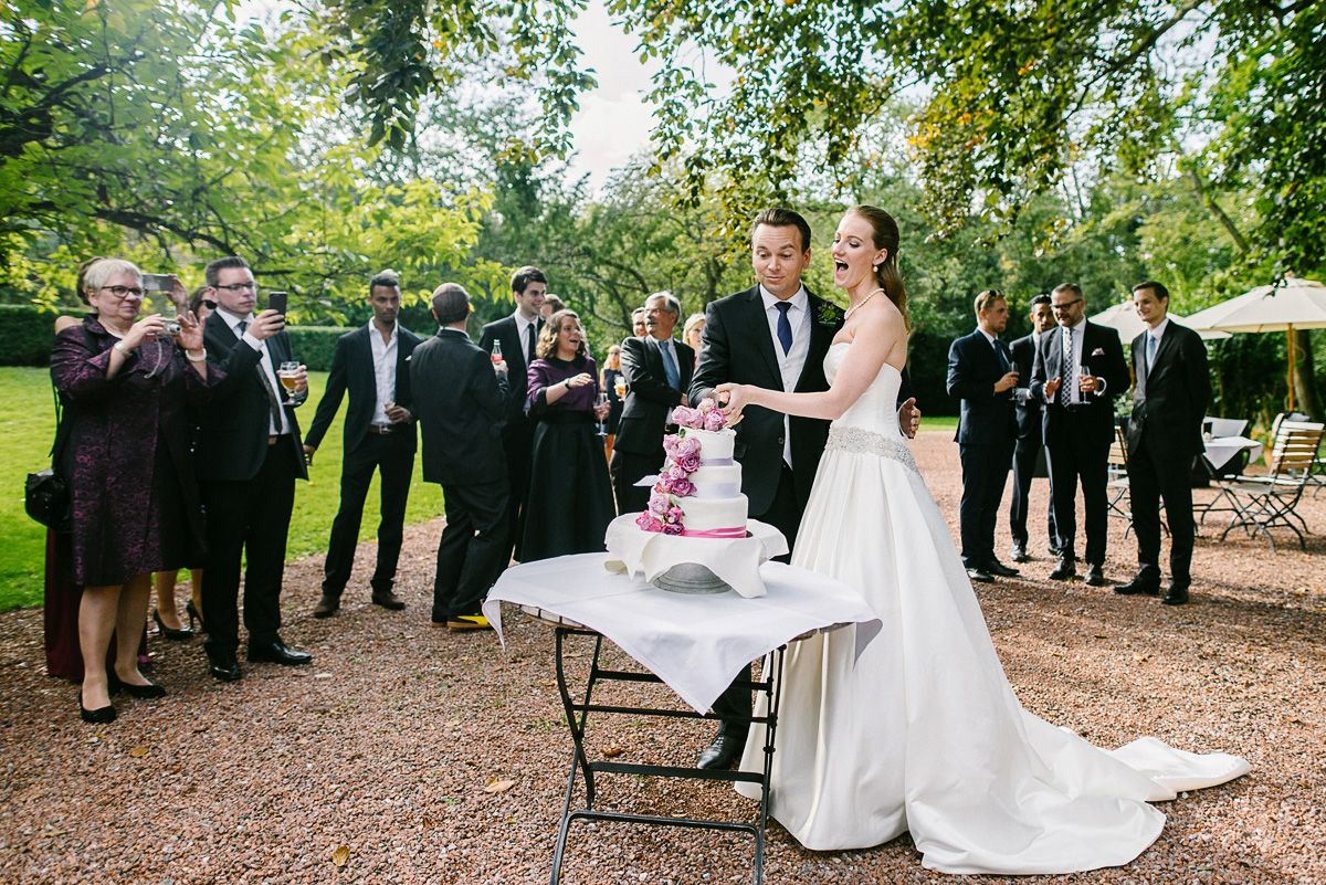 Hochzeitstorte im Hugenpoet