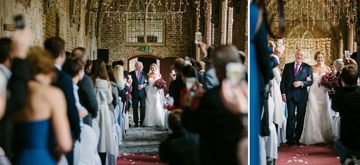 Braut Kircheneinzug