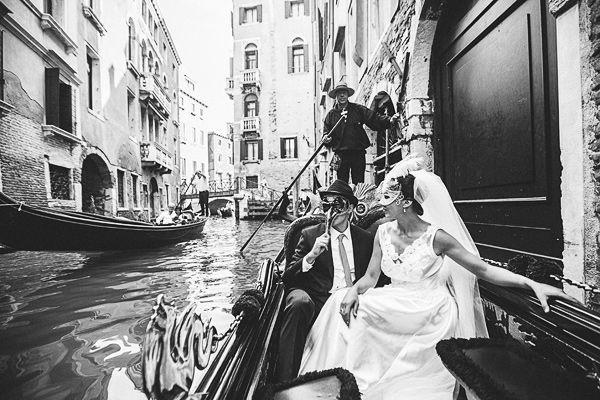 Gondelfahrt in Venedig, Italien Hochzeitsfotograf