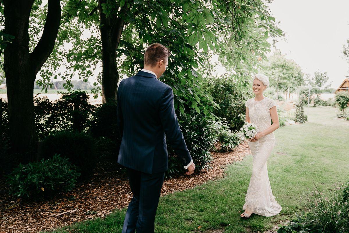 erste Treffen als Hochzeitspaar