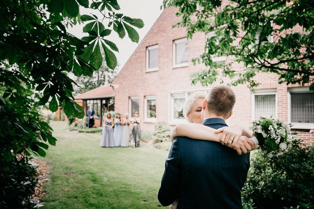 First-Look erste Treffen als Hochzeitspaar