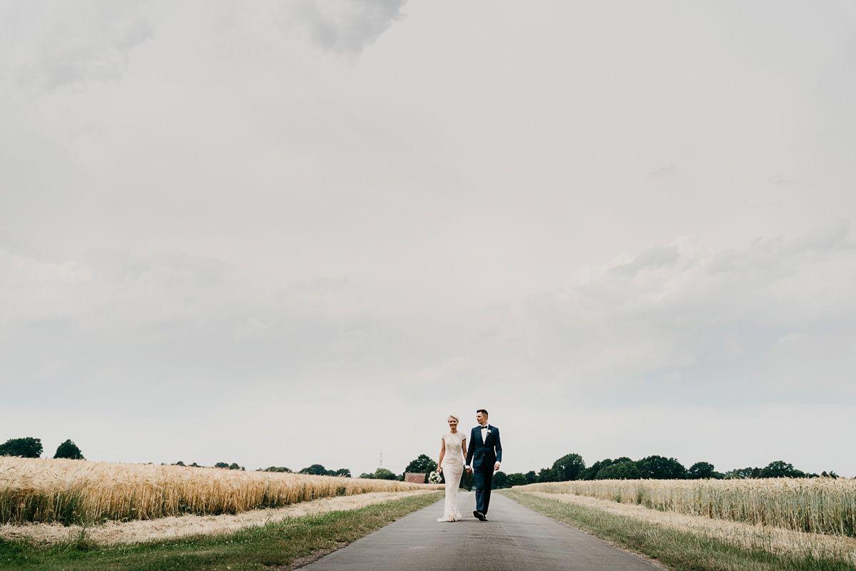 Hochzeitsshooting in Freien
