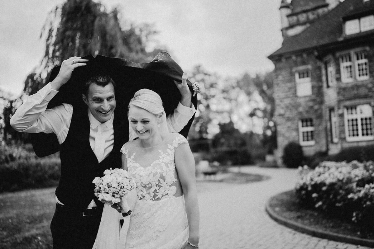 Tolle Hochzeitsfotos bei schlechtem Wetter