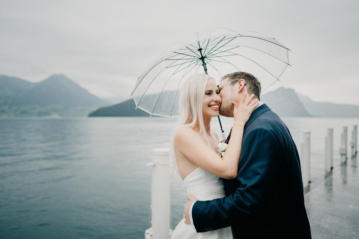 Hochzeit im Regen
