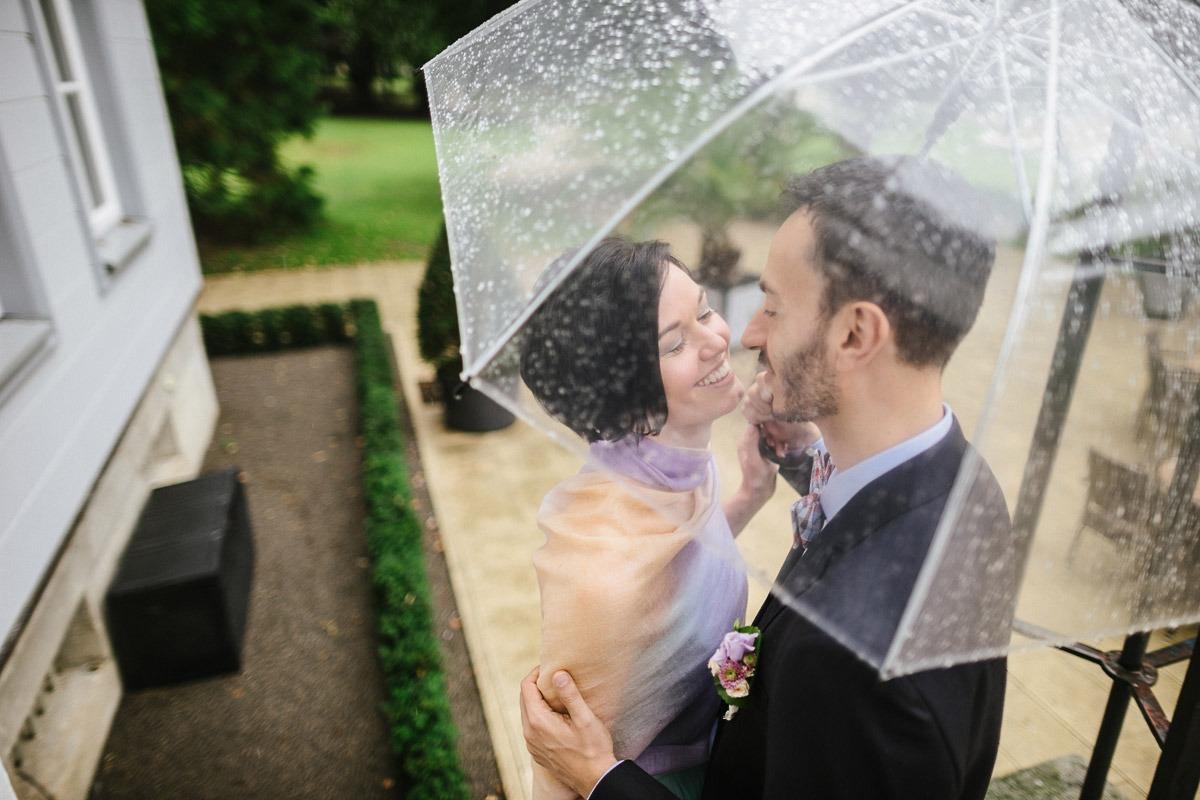 Regen am Hochzeit